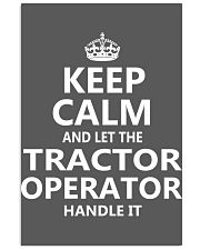 Tractor Operator 11x17 Poster thumbnail