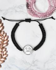 Dachshund  Cord Circle Bracelet aos-bracelet-cord-front-lifestyle-1