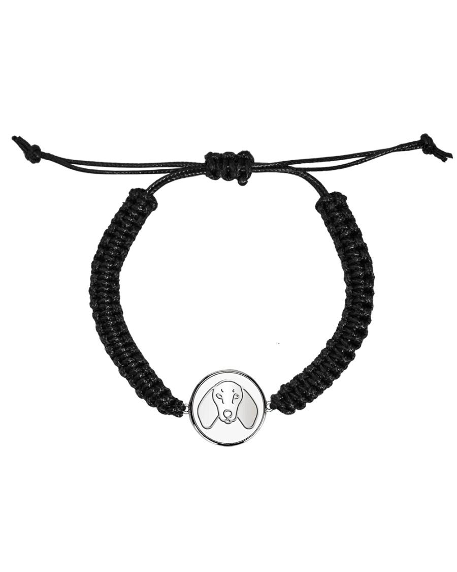Dachshund  Cord Circle Bracelet