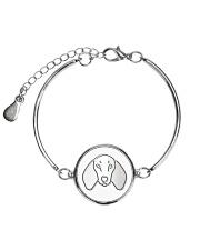 Dachshund  Metallic Circle Bracelet thumbnail