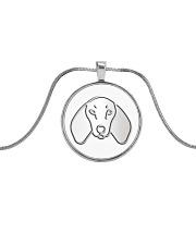 Dachshund  Metallic Circle Necklace thumbnail
