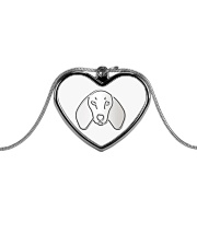 Dachshund  Metallic Heart Necklace tile