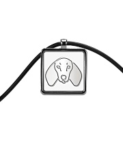 Dachshund  Cord Rectangle Necklace thumbnail