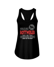 WORLD'S BEST ROTTWEILER DAD Ladies Flowy Tank thumbnail
