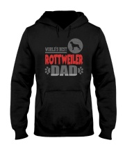 WORLD'S BEST ROTTWEILER DAD Hooded Sweatshirt front
