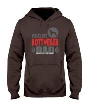 WORLD'S BEST ROTTWEILER DAD Hooded Sweatshirt tile