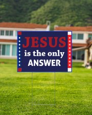 Jesus is the only answer yard sign 24x18 Yard Sign aos-yard-sign-24x18-lifestyle-front-03