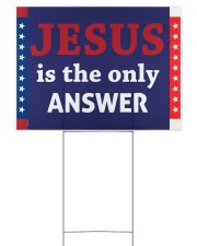 Jesus is the only answer yard sign Yard Signs tile