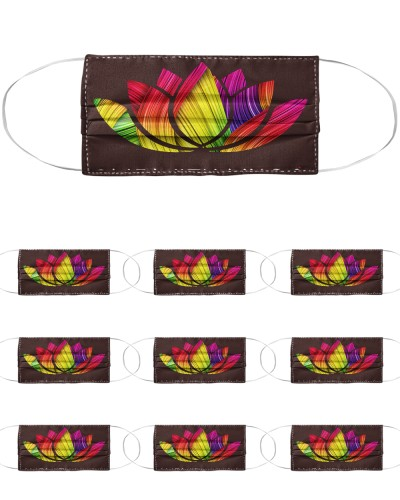 Flower namaste home with my dog neck gaiter