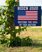 Biden 2020 restore the soul 24x18 Yard Sign aos-yard-sign-24x18-lifestyle-front-19