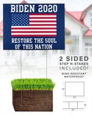 Biden 2020 restore the soul 24x18 Yard Sign aos-yard-sign-24x18-lifestyle-front-28