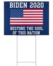 Biden 2020 restore the soul 24x18 Yard Sign front
