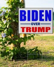 Biden over Trump vote Blue 24x18 Yard Sign aos-yard-sign-24x18-lifestyle-front-19