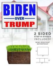 Biden over Trump vote Blue 24x18 Yard Sign aos-yard-sign-24x18-lifestyle-front-28
