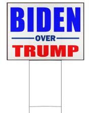 Biden over Trump vote Blue 24x18 Yard Sign back