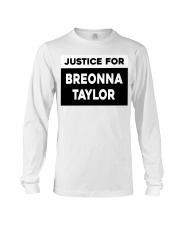 Justice for Breonna Taylor yard sign Long Sleeve Tee tile