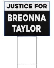 Justice for Breonna Taylor yard sign 24x18 Yard Sign back