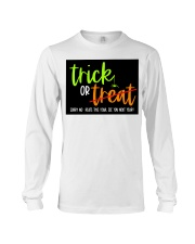 Trick or no Treat yard sign Long Sleeve Tee thumbnail