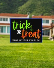 Trick or no Treat yard sign 24x18 Yard Sign aos-yard-sign-24x18-lifestyle-front-03