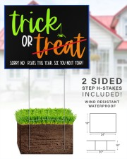 Trick or no Treat yard sign 24x18 Yard Sign aos-yard-sign-24x18-lifestyle-front-28