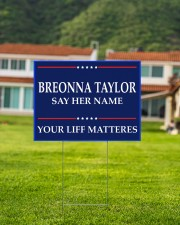 Breonna Taylor Your Life Mattered yard sign 24x18 Yard Sign aos-yard-sign-24x18-lifestyle-front-03