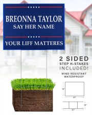 Breonna Taylor Your Life Mattered yard sign 24x18 Yard Sign aos-yard-sign-24x18-lifestyle-front-28