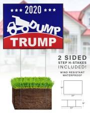 2020 Dump Trump yard side 24x18 Yard Sign aos-yard-sign-24x18-lifestyle-front-28
