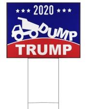 2020 Dump Trump yard side 24x18 Yard Sign back