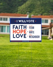 I will vote faith hope love yard sign 24x18 Yard Sign aos-yard-sign-24x18-lifestyle-front-03