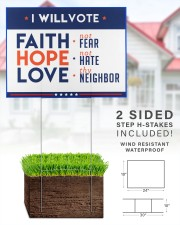 I will vote faith hope love yard sign 24x18 Yard Sign aos-yard-sign-24x18-lifestyle-front-28
