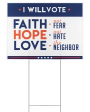 I will vote faith hope love yard sign Yard Signs tile