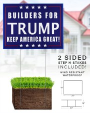 Builders for Trump yard sign 24x18 Yard Sign aos-yard-sign-24x18-lifestyle-front-28