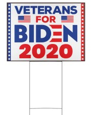 Veterans for Biden 2020 reup 24x18 Yard Sign back