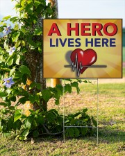 Heartbeat a hero lives here 24x18 Yard Sign aos-yard-sign-24x18-lifestyle-front-19