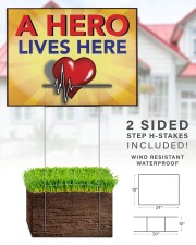 Heartbeat a hero lives here 24x18 Yard Sign aos-yard-sign-24x18-lifestyle-front-28