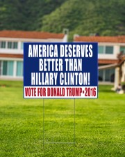 American deserves better than Biden vote 24x18 Yard Sign aos-yard-sign-24x18-lifestyle-front-03