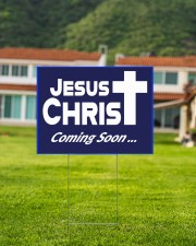 Jesus is coming soon yard sign 24x18 Yard Sign aos-yard-sign-24x18-lifestyle-front-03