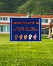 Breonna Taylor we'll continue to fight 24x18 Yard Sign aos-yard-sign-24x18-lifestyle-front-03