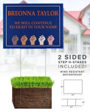 Breonna Taylor we'll continue to fight 24x18 Yard Sign aos-yard-sign-24x18-lifestyle-front-28