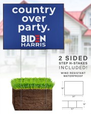 Biden Harris country over party 24x18 Yard Sign aos-yard-sign-24x18-lifestyle-front-28