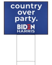 Biden Harris country over party 24x18 Yard Sign back
