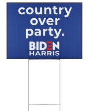 Biden Harris country over party 24x18 Yard Sign front
