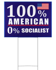 100 American Socialist yard sign 24x18 Yard Sign back