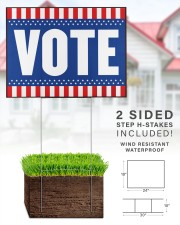 American flag vote 24x18 Yard Sign aos-yard-sign-24x18-lifestyle-front-28