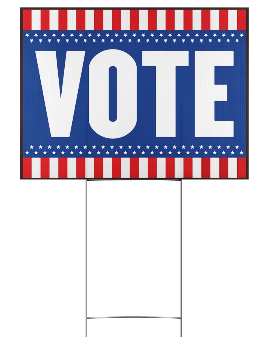 American flag vote 24x18 Yard Sign