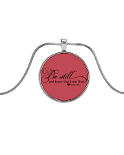 PSALM 46:10 Metallic Circle Necklace thumbnail