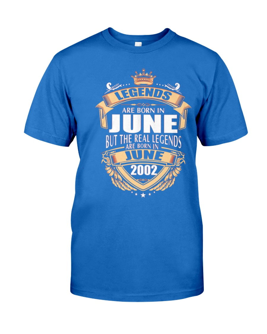 LEGENDS ARE BORN IN JUNE 2002 Premium Fit Mens Tee