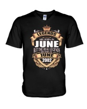 LEGENDS ARE BORN IN JUNE 2002 V-Neck T-Shirt thumbnail