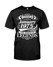 LIFE BEGINS IN JANUARY 1975 Premium Fit Mens Tee thumbnail