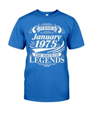 LIFE BEGINS IN JANUARY 1975 Premium Fit Mens Tee front